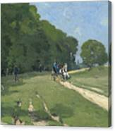 The Road Near The Park Of Courances Canvas Print