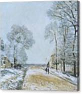 The Road, Snow Effect Canvas Print
