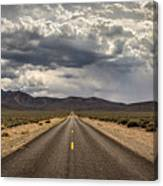 The Road To Death Valley Canvas Print