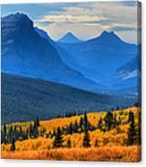 The Road To Glacier Canvas Print