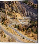 The Road To Izoard Pass - 2 - French Alps Canvas Print