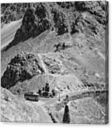 The Road To Ladakh Bw Canvas Print