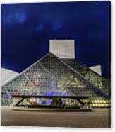 The Rock And Roll Hall Of Fame At Dusk Canvas Print
