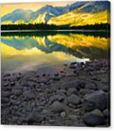 The Rockies Reflected At Lake Annettee Canvas Print