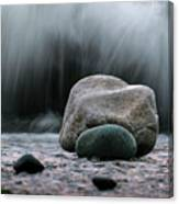 The Rocks At The End Of Hastie Road Canvas Print