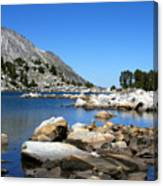 The Rocks Of Treasure Lake Canvas Print