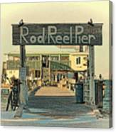The Rod And Reel Pier Vintage   Canvas Print