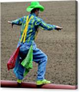 The Rodeo Clown Canvas Print