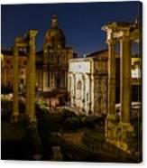 The Roman Forum At Night Canvas Print