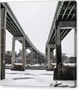 The Roosevelt Expressway Bridges Canvas Print