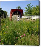 The Roseman Bridge In Madison County Iowa Canvas Print