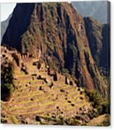 The Ruins Of Machu Picchu, Peru, Latin America Canvas Print