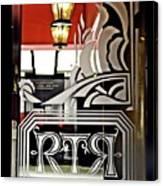The Russian Tea Room Door Canvas Print