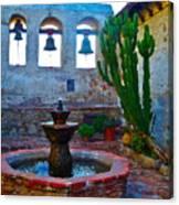 The Sacred Garden Of Mission San Juan Capistrano California Canvas Print