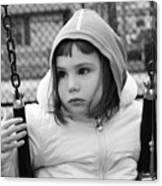 The Sad Girl On A Swing Canvas Print