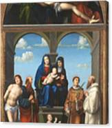 The Saint Anne Altarpiece From San Frediano Lucca Canvas Print