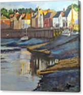 The Saltwater Village Evening Canvas Print