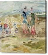 The Sand Castle Canvas Print