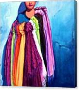 The Scarf Seller Canvas Print