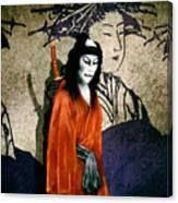 The Scarlet Samurai... Canvas Print