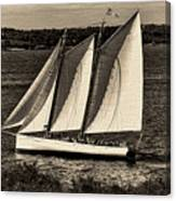 The Schooner Adirondack II Antiqued Canvas Print