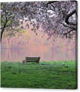 The Schuykill River At Kelly Drive In The Spring Canvas Print