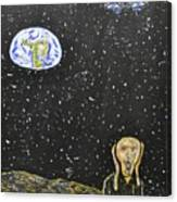 The Scream And Planets  Canvas Print
