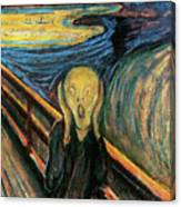 The Scream Flame Tree Edition Canvas Print