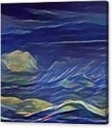The Sea And Sky Where Thunder Sleeps Canvas Print