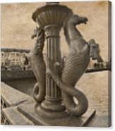 The Seahorses 3 Sepia Canvas Print