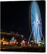 The Seattle Great Wheel 2 Canvas Print