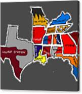 The Sec South Eastern Conference Teams Canvas Print