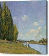 The Seine At Billancourt Canvas Print