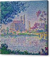 The Seine At Mantes, By Paul Signac, 1899-1900, Kroller-muller M Canvas Print