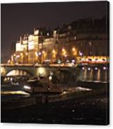 The Seine At Night Canvas Print