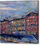 The Seine In Paris Canvas Print