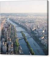 The Seine River In Paris Canvas Print