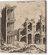 The Septizonium And The Colosseum Canvas Print