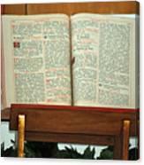 The Sermon Canvas Print
