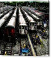 The Seven Train Yard Queens Ny Canvas Print