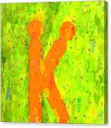 The Sexy K  - Orange -  - Pa Canvas Print