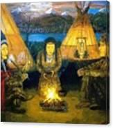 The Shamans Council Canvas Print