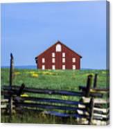 The Sherfy Farm At Gettysburg Canvas Print