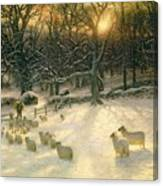 The Shortening Winters Day Is Near A Close Canvas Print