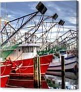 The Shrimpers Salute Canvas Print