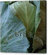 The Shy Cabbage The Keg Room Old English Hunter Green Canvas Print