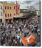 The Sights And Sounds Of Sxsw Are Enormous From 6th Street As Thousands Of Revelers Fill The Streets Canvas Print