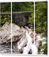 The Sinks Smoky Mountains Triptych Canvas Print