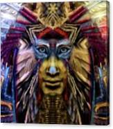 The Sioux Spirit - The Plumed Lion Canvas Print