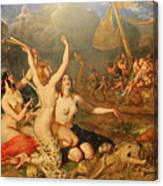 The Sirens And Ulysses Canvas Print